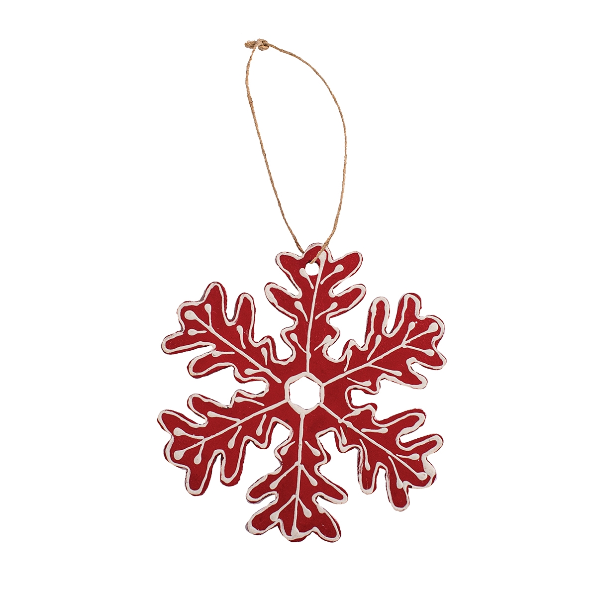 Red Slipware Snowflake (6 LEFT)